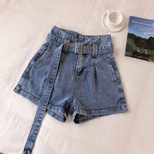 Casual Long Belted Denim Sexy Shorts