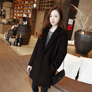 Thin Wool Blend Coat