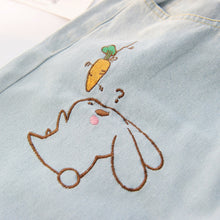 Rabbit Embroidered Denim Pants