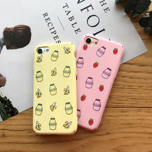 Banana and Strawberry Milk Case For iPhone