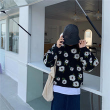 Flowers Casual Long Sleeve Sweater