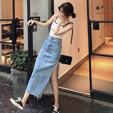 Split Long Midi Jeans Skirts