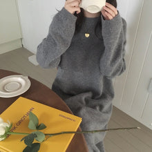 Long Knitted Oversized Knitted Dress Sweater