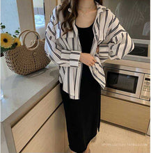Loose Striped Oversize Blouse Shirt