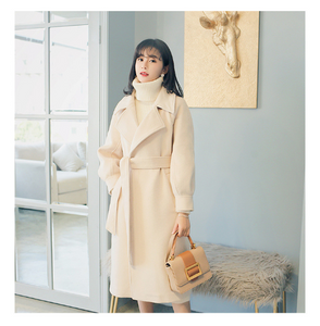 Adjustable Belt Wool Coat
