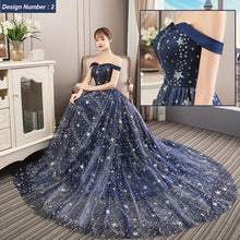 High Quality Moon and Stars Mesh Elegant Dress