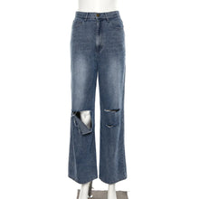 Retro Hollow High Waist Jeans