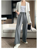 Long Casual Striped Wide Leg Pants
