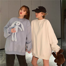 Adjustable Bear and Rabbit Doll Loose Sweatshirt