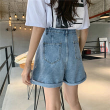 Buttons Casual Denim Short Jeans