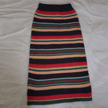 Elegant Striped Knitted A-Line Skirt
