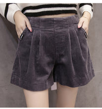 Corderoy Short Grey