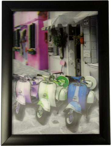 Iconic 3D 25x35cm - Three Lambretta