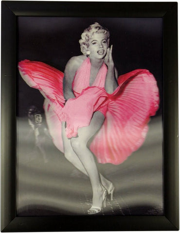 Iconic 3D 40x30cm - Marilyn Pink Dress
