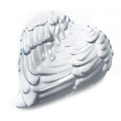 Angel Wings Trinket Box - White
