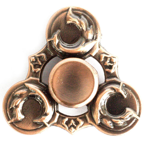 Metal Fidget Spinner - Dragons Wings - Copper