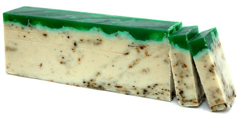 Green Tea Olive Oil Artisan Soap Slice
