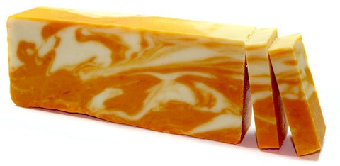 Orange Olive Oil Artisan Soap Slice