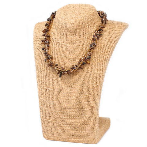 Chipstone & Bead Necklace -Tiger Eye