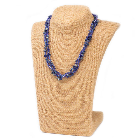 Chipstone & Bead Necklace -Lapis