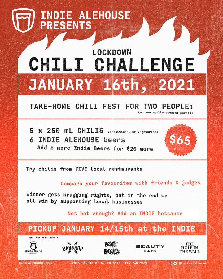 Indie Lockdown Chili Challenge!