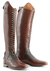 Maurizia Ladies Lace Front Tall Leather Riding Boots