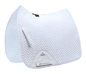 Plain Cotton Saddle Pad - Dressage Square