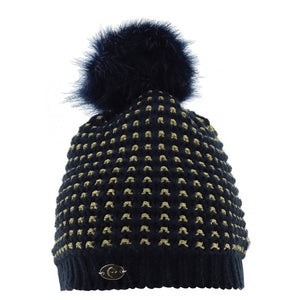 "EQUIT'M ""Torsades"" Knitted Bobble Hat"