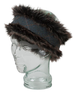 Sherrborne Faux Fur/Lambswool Tweed Headband