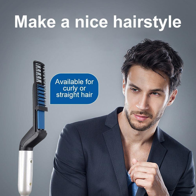 Men Beard & Hair Straightening Comb - mygeniusgift