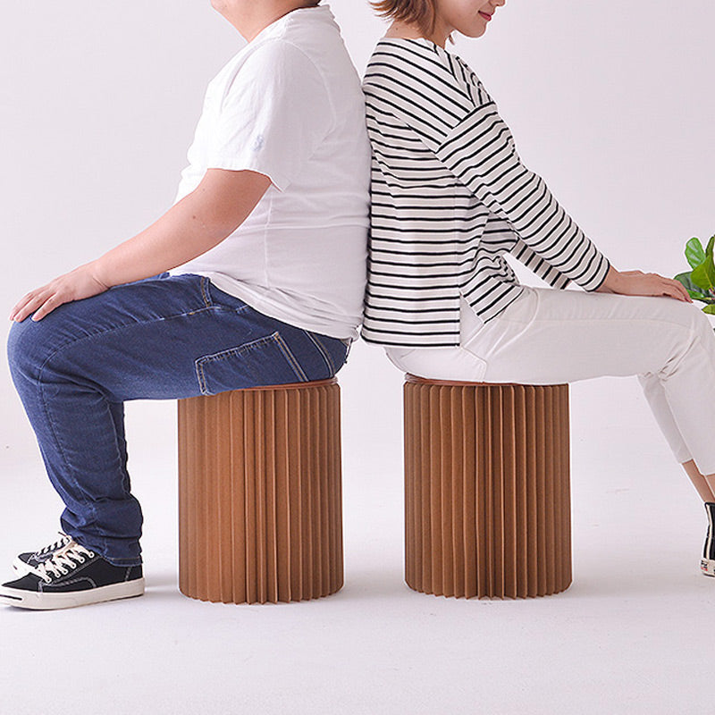 Folding Paper Stool with Felt Pad Seat -Stylish Chair - mygeniusgift