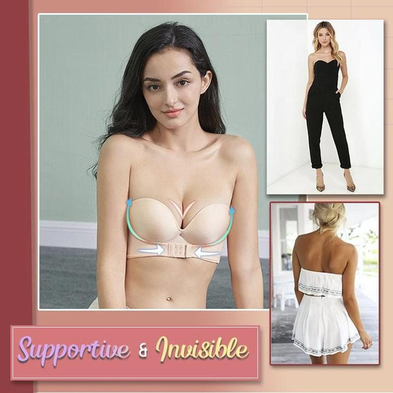 Strapless Front Buckle Lift Bra