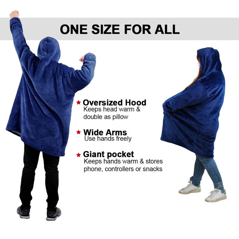 Mygeniusgift™ Blanket Sweatshirt For Adults & Children - mygeniusgift