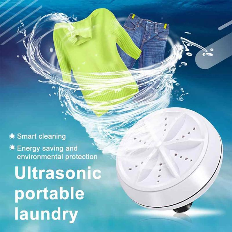 Ultrasonic Mini Portable Turbo Washing Machine