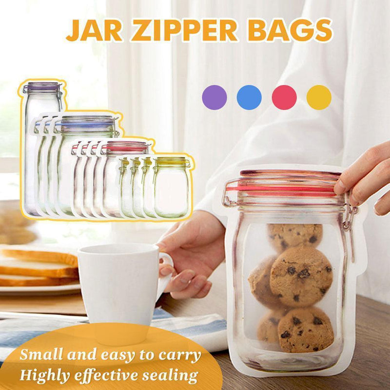 Jar Zipper Bags, set of 5 - mygeniusgift