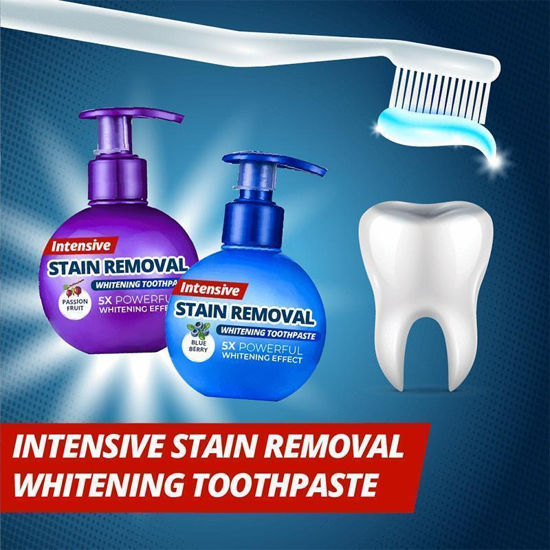 Intensive Stain Removal Whitening Toothpaste - mygeniusgift