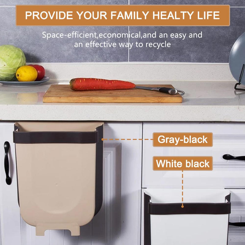 Mygeniusgift™  Creative Wall Mounted Folding Waste Bin - mygeniusgift