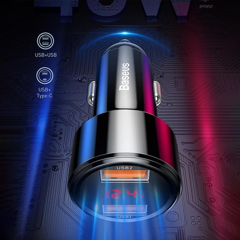 LED Digital Display Car Charger