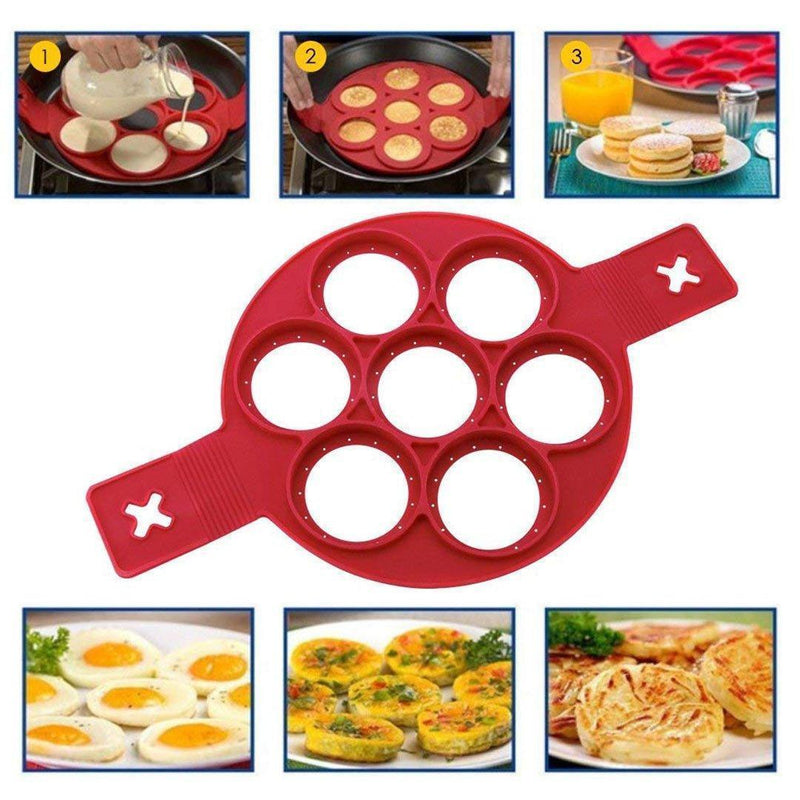 Mygeniusgift™ Non-stick Silicone Pancake Mold Ring - mygeniusgift