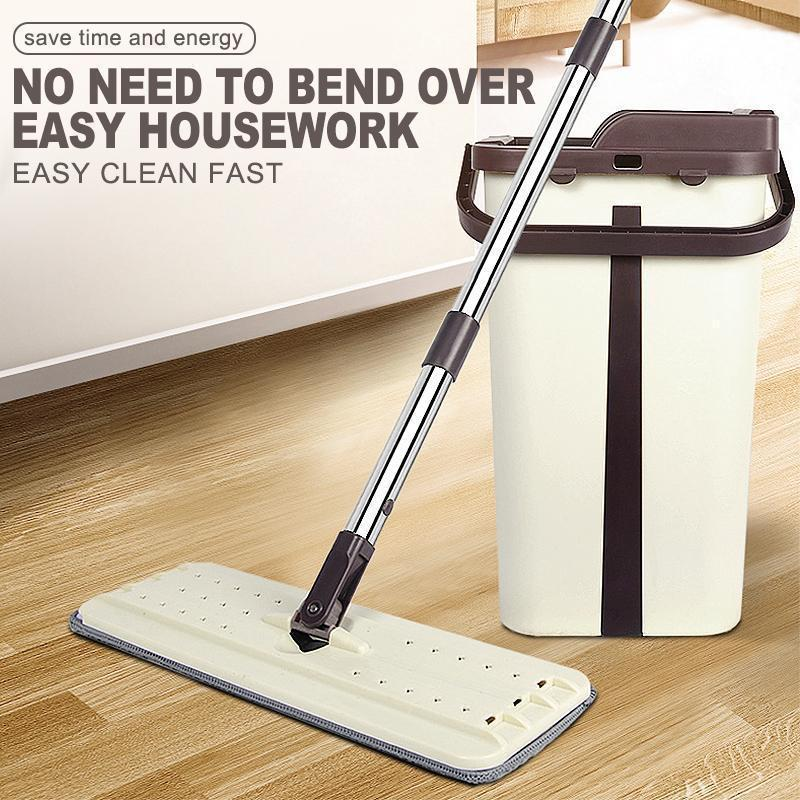 Squeezy Clean Self Cleaning Microfiber Mop - mygeniusgift