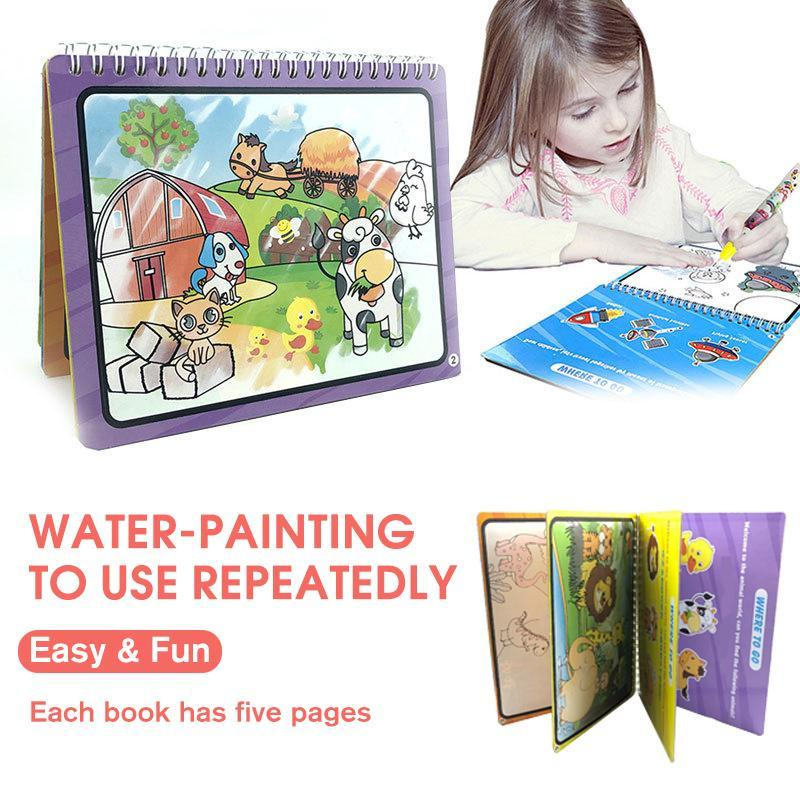 Reusable Water-Painting Books - mygeniusgift