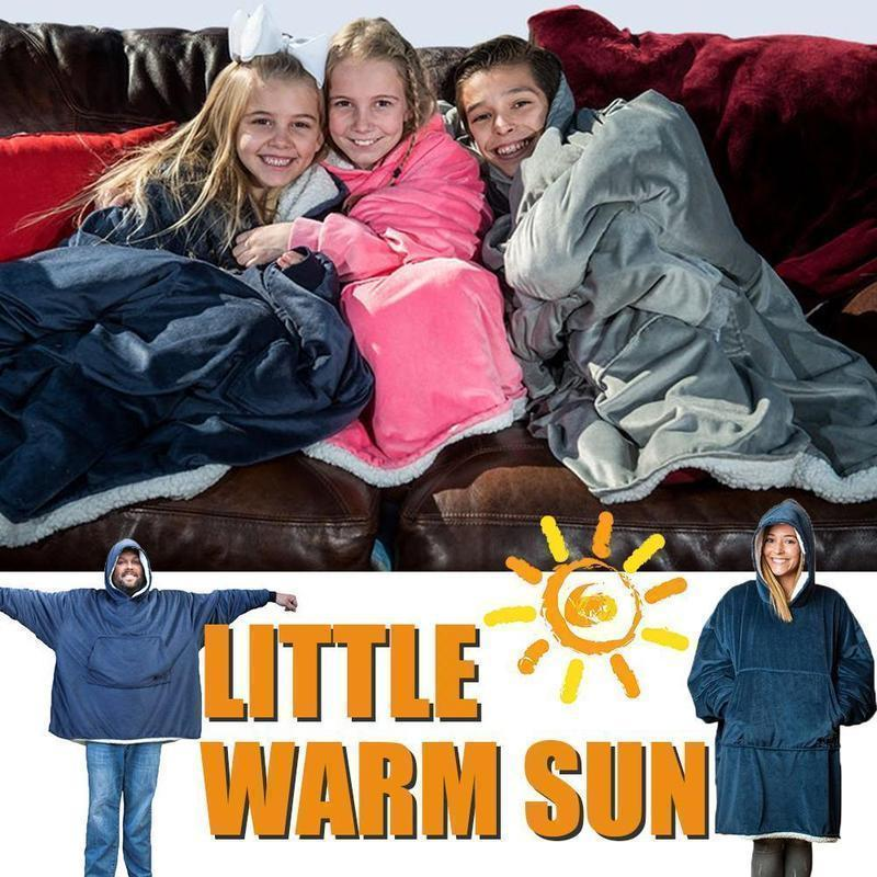 Supersize Blanket Sweatshirt For Adults & Children - mygeniusgift