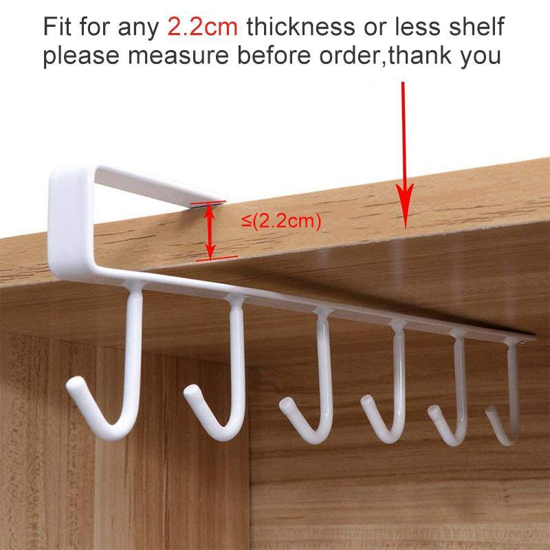 Mygeniusgift™ 6 Hooks Under-Cabinet Hanger Rack - mygeniusgift
