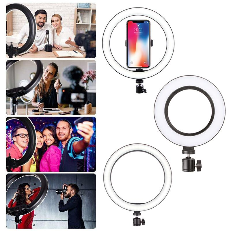 Professional LED Selfie Ring Light - Compatible with iPhone/Android - mygeniusgift