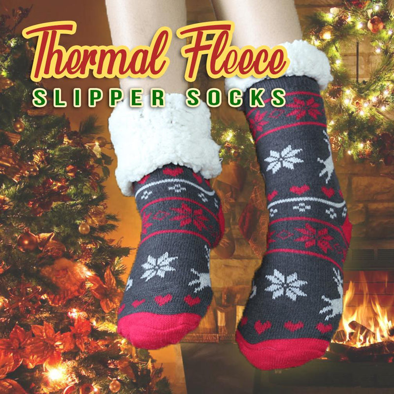 Mygeniusgift™ Thermal Fleece Slipper Socks - mygeniusgift