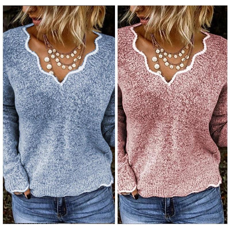 Casual V-neck Sweater - mygeniusgift