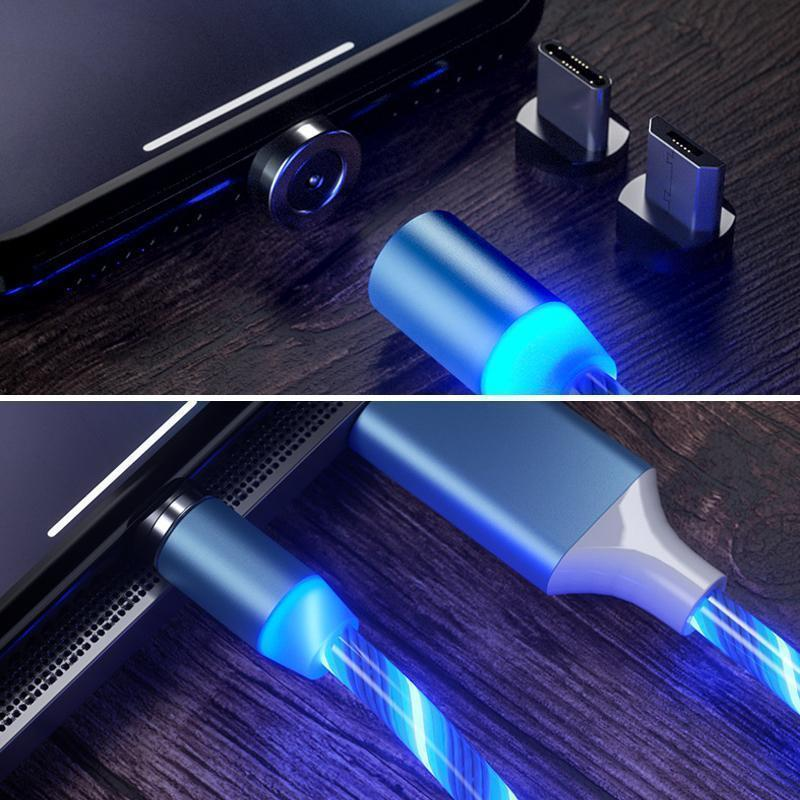 LED Magnetic 3 in 1 USB Charging Cable - mygeniusgift