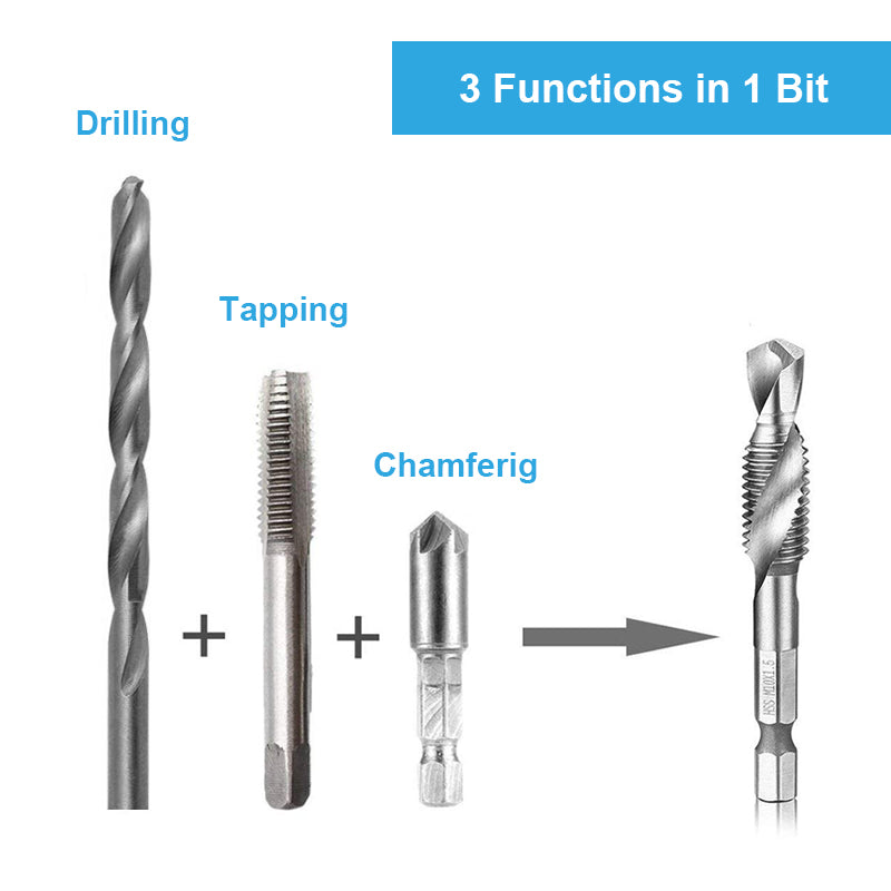 Domom® Metric Tap Drill Bits 6PCS (M3 - M10) - mygeniusgift