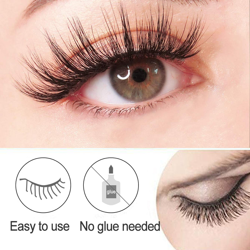 Reusable Self - Adhesive Natural Curly Eyelashes - mygeniusgift