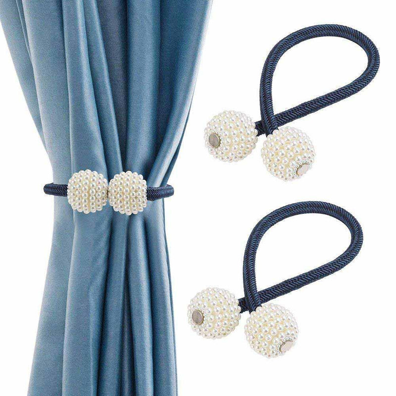 Hirundo Pearl Curtain Tiebacks with Strong Magnetic Clips, 2 pcs - mygeniusgift
